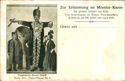 Künstler Ak Zur Erinnerung an Mianko Karoo, 2,35m Hoch, Count Orloff, Riese