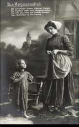 Ak Das Bergmannskind, Mutter mit Kind, Mit schwachen Armen, RKL 4328 1