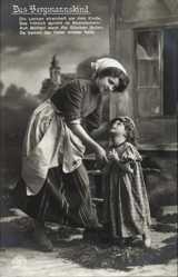 Ak Das Bergmannskind, Mutter mit ihrem Kind, Die Locken streichelt, RKL 4326 2
