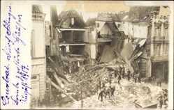 Foto Ak Kortrijk Courtrai Westflandern, Zerstörte Häuser