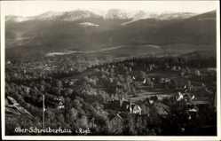 Postcard Szklarska Poręba Schreiberhau Riesengebirge Schlesien, Blick auf den Ort