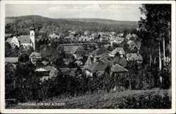 Postcard Polanica Zdrój Bad Altheide Schlesien, Blick vom Berg auf den Ort