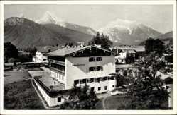 Postcard Strub Bischofswiesen, Jugendherberge Strub mit Witzmann und Hochkalter