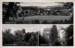 Postcard Almena an der Weser Extertal, Erholungsheim Haus Wieneke, Ost und Westansicht