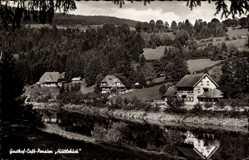 Postcard St. Blasien im Südschwarzwald Baden Württemberg, Gasthof Hüttlebuck, Fluss