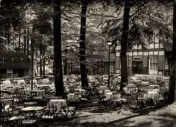 Ak Ilsenburg am Nordharz, HO Gaststätte Kurpark, Biergarten