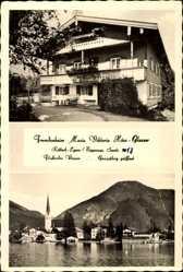 Postcard Rottach Egern Oberbayern, Fremdenheim Maria Viktoria Höss Glasser, Seestr. 13