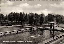 Ak Piesteritz Lutherstadt Wittenberg in Sachsen Anhalt, Schwimmbad, Volkspark