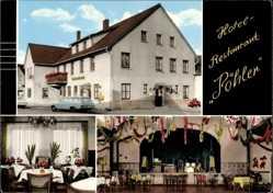 Postcard Nordhemmern Hille in Ostwestfalen, Hotel Restaurant Pöhler, Saal