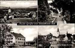 Postcard Waidhaus in der Oberpfalz Bayern, Pfarrkirche, Tschech. Grenzübergang, Zoll