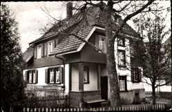 Postcard Hinterzarten im Südschwarzwald, Blick auf das Haus Kern, Eingang
