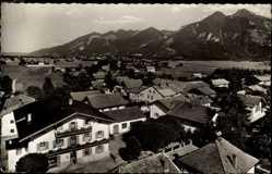 Postcard Grassau im Chiemgau, Gasthaus Sperrer, Schnappen, Hochgern, Häuser