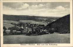 Postcard Altenau im Oberharz, Blick auf den Ort mit Rothenberg