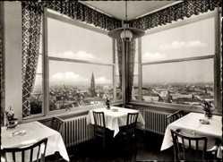 Postcard Freiburg im Breisgau Baden Württemberg, Blick vom Schloßbergrestaurant