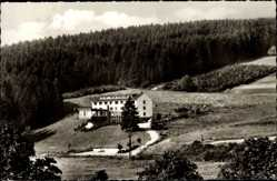 Postcard Wildbergerhütte Reichshof, Fritz Schulte Heim d. Gewerk. d. Polizei NRW