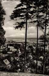 Postcard Reelkirchen Blomberg im Kreis Lippe, Blick auf den Ort vom Spielberg aus