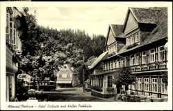 Postcard Altenau im Oberharz, Hotel Rathaus und Kaffee Parkhaus