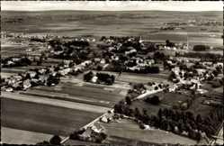Postcard Hartum Hille in Ostwestfalen, Totalansicht der Ortschaft, Fliegeraufnahme