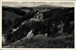 Postcard Elbingerode Oberharz am Brocken, Totalansicht der Ortschaft