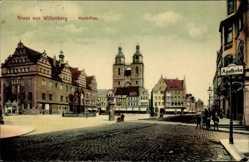 Postcard Lutherstadt Wittenberg in Sachsen Anhalt, Marktplatz, Apotheke, Rathaus