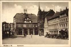 Postcard Minden in Ostwestfalen Lippe, Marktplatz, Hotel Deutscher Kaiser