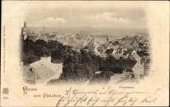 Postcard Lutherstadt Eisleben in Sachsen Anhalt, Panorama der Stadt