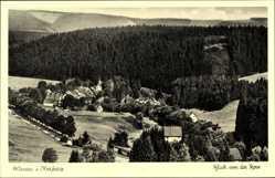 Postcard Altenau im Oberharz, Blick von der Rose auf den Ort
