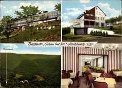 Postcard Strotzbüsch in der Eifel, Berghotel Schau ins Tal, Thermalquelle