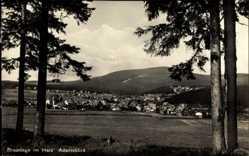 Postcard Braunlage im Oberharz, Adamsblick, Blick aus der Ferne auf den Ort
