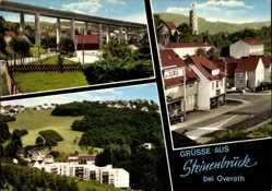 Postcard Steinenbrück Overath Rheinisch Bergischer Kreis, Straßenpartie, Brücke