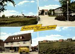 Postcard Tiengen Freiburg im Breisgau Baden Württemberg, Geschäft, Blick auf den Ort