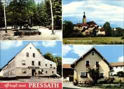 Postcard Pressath an der Heidenaab Oberpfalz, Kinderspielplatz, Pension Neumann