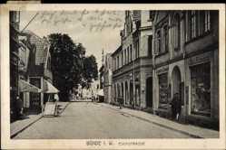 Postcard Bünde im Kreis Herford, Blick in die Eschstraße, Geschäfte, P. Hitzemann