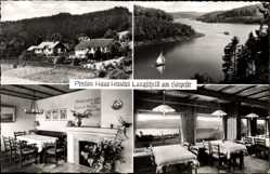 Postcard Langscheid Sorpesee, Pension Haus Hessliet, Bes. Maßmann