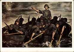 Künstler Ak Padua, Paul Mathias, Der 10. Mai 1940, Wehrmacht, HDK 177