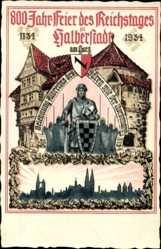 Postcard Halberstadt am Harz, 800 Jahr Feier des Reichstages 1934, Ritter