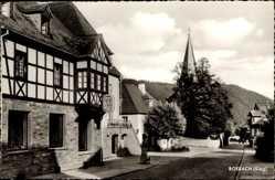 Postcard Rosbach Windeck im Rhein Sieg Kreis, Blick auf einen Gasthof, Kirchturm
