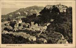 Postcard Blankenburg am Harz, Panoramablick auf den Ort mit Schloss