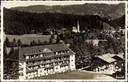 Postcard Kreuth Oberbayern, Blick auf das Sanatorium mit Umgebung