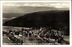 Postcard Altenau Harz, Blick vom Forsthaus Rose, Schwarzenberg, Schützenklippe