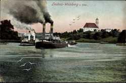 Postcard Lubiąż Leubus Schlesien, Weinberg, Oderdampfer