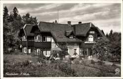 Postcard Karpacz Krummhübel Riesengebirge Schlesien, Gasthof Fremdenheim, P. Scholz