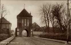 Postcard Myślibórz Soldin Pommern, Pyritzer Tor, Straßenpartie