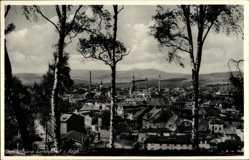 Postcard Kamienna Góra Landeshut Riesengebirge Schlesien, Panorama der Ortschaft
