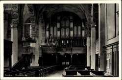 Postcard Myślibórz Soldin Pommern, Domkirche, Orgel, Redekanzel