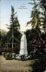 Postcard Głogów Glogau Schlesien, Ansicht vom Schiller Denkmal