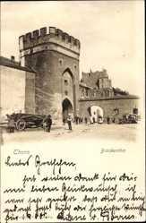 Postcard Toruń Thorn Westpreußen, Ansicht vom Brückentor, Anwohner