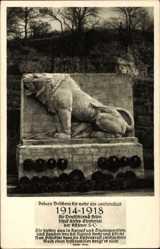 Postcard Bad Kösen Naumburg an der Saale, Krieger Ehrenmal auf der Rudelsburg