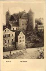 Ak Wurzen in Sachsen, Partie am Schloss, erbaut 1491