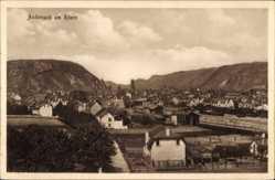 Postcard Andernach im Landkreis Mayen Koblenz, Totalansicht der Ortschaft, Berge